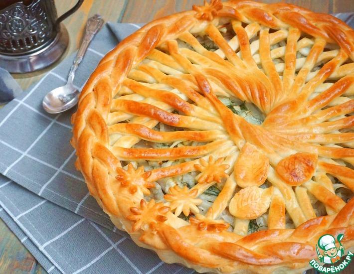 Рецепт: Пирог с мойвой и укропом