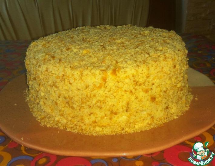 Рецепт: Творожный торт на сковороде Пломбир