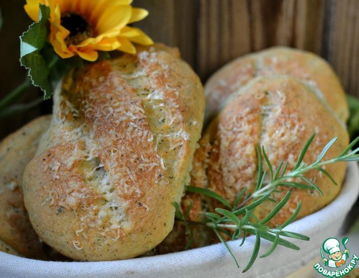 Рецепт: Дрожжевые сырные булочки