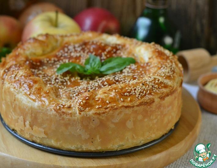 Рецепт: Сельский мясной пирог