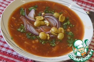 Рецепт: Греческий постный томатный суп