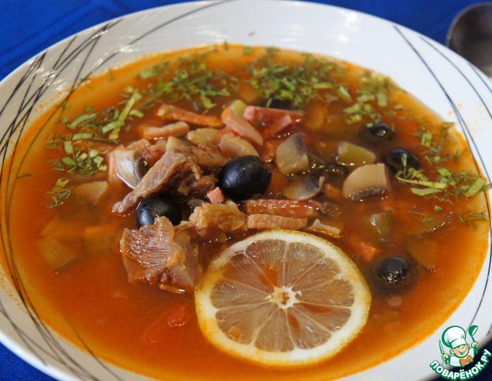 Рецепт: Солянка с грибами по-сибирски