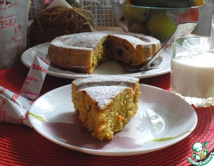 Рецепт: Морковный пирог на домашней ряженке
