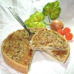 Пирог Сырно-грибное удовольствие