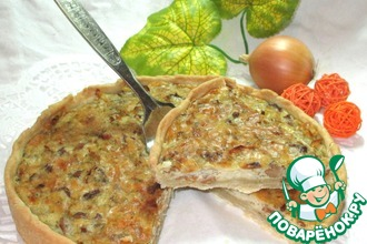 Рецепт: Пирог Сырно-грибное удовольствие