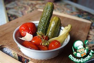 Рецепт: Малосольное овощное ассорти