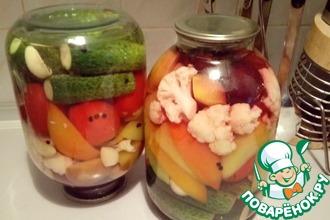 Рецепт: Ассорти фруктово-овощное