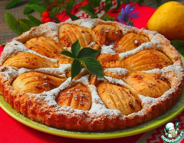 Рецепт: Грушевый пирог из сухарей