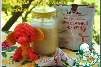 Рецепт: Йогуртовый смузи с манго и овсянкой