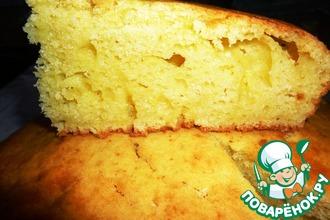 Рецепт: Пышный пирог с рикоттой и лимоном