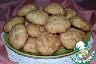 Рецепт: Творожное печенье с грушей и корицей