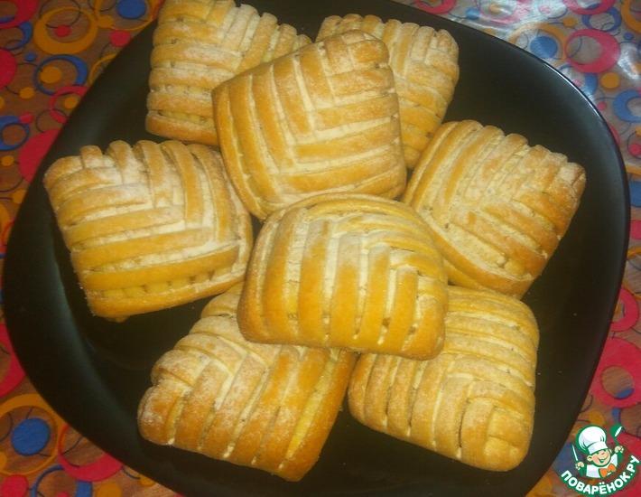 Рецепт: Песочные пирожные с лимонно-апельсиновой начинкой
