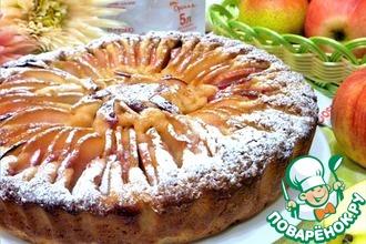 Рецепт: Яблочно-грушевый пирог Хризантема