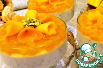 Рецепт: Йогуртовый десерт с фисташками и манго