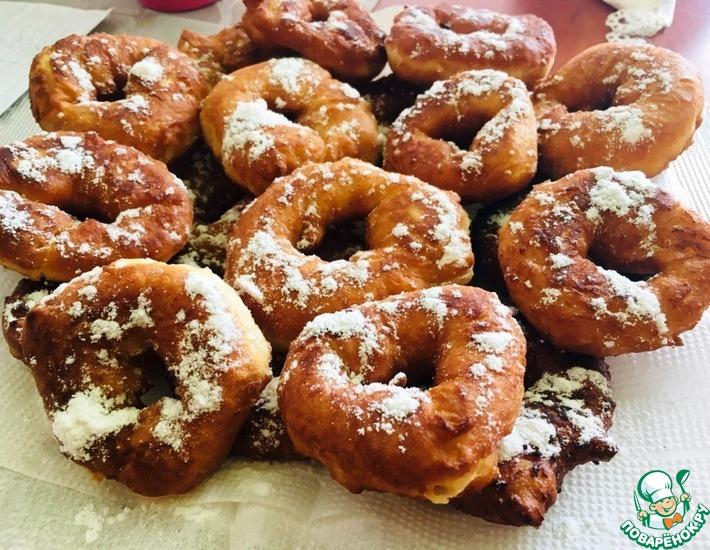 Рецепт: Самые простые пончики на кефире