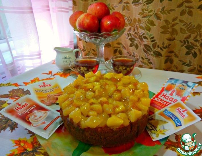 Рецепт: Очень простой и вкусный пряный пирог