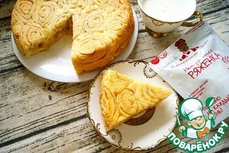 Рецепт: Пирог с яблоком по мотивам Синнабон