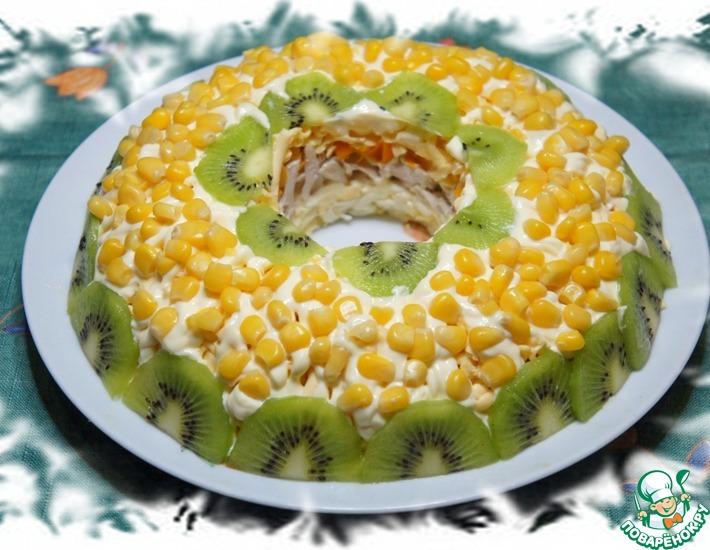 Рецепт: Салат с киви и кукурузой