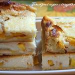 Быстрый пирог с йогуртом и нектаринами