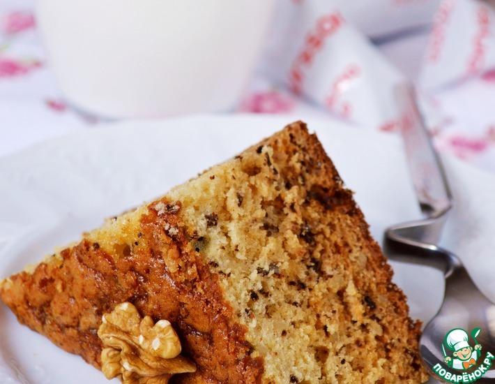 Рецепт: Медово-ореховый пирог на кефире
