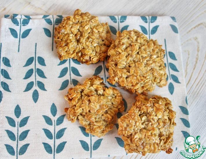 Рецепт: Овсяное печенье с грецким орехом