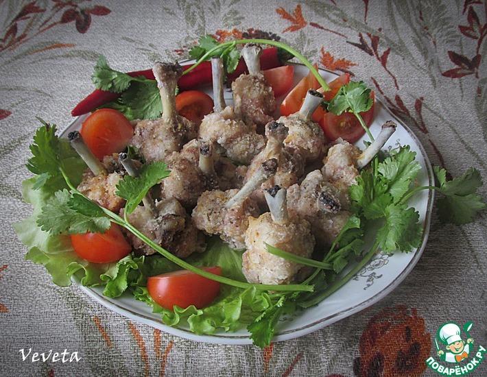 Рецепт: Куриные крылышки Парадные