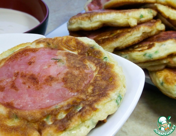 Рецепт: Несладкие оладьи на завтрак