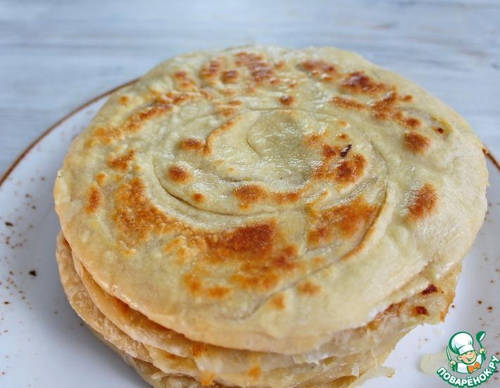 Рецепт: Катлама с луком на сковороде
