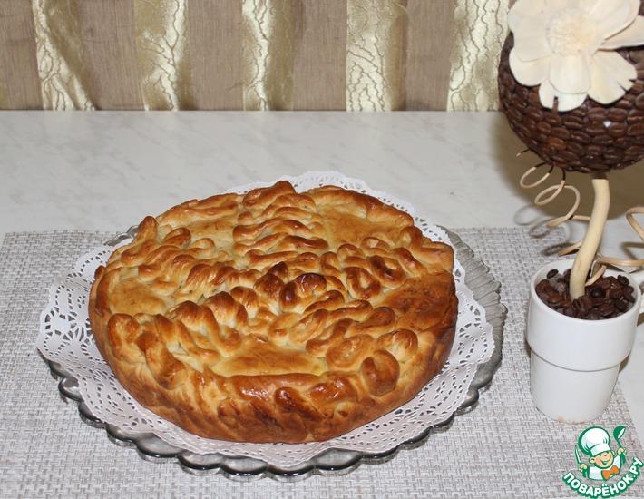 Рецепт: Пирог с картофелем и сыром