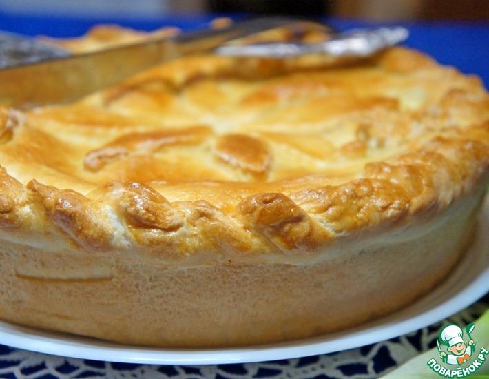 Рецепт: Пирог с куриной печенкой