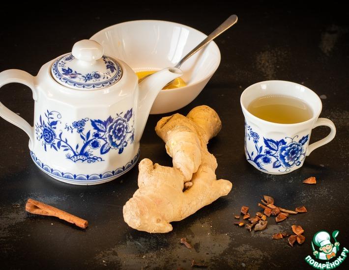 Самый простой согревающий чай из имбиря