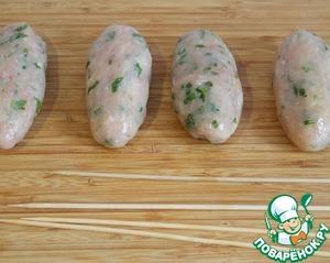 Кебабы из куриного филе Петрушка