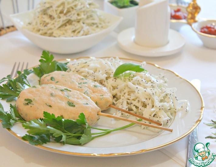 Рецепт: Кебабы из куриного филе