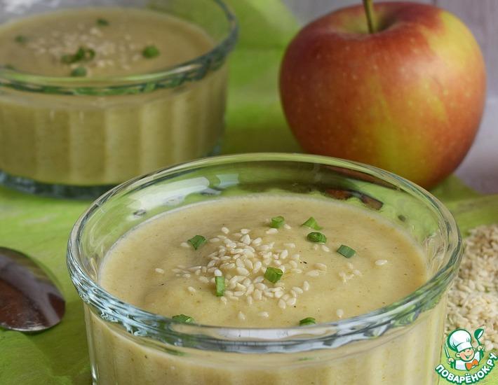 Рецепт: Суп-пюре с брокколи и яблоком