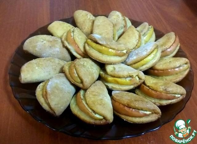 Творожное печенье с яблоком photo
