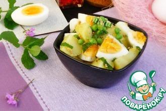 Рецепт: Картофельный салат с яйцом