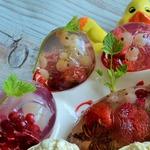 Желе с фруктами Пасхальное яйцо