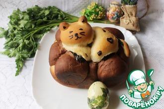 Рецепт: Десертный хлеб Ленивый кот
