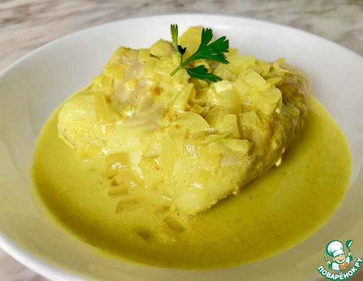 Рецепт: Филе трески в соусе карри