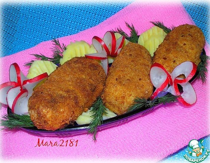 Рецепт: Тресковые колбаски в панировке