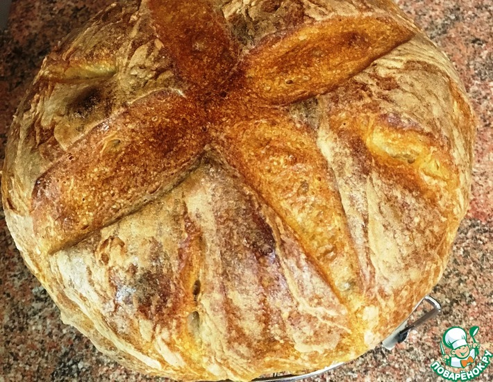 Рецепт: Хлеб Вермонтский на основе стартера