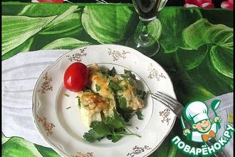 Рецепт: Рыба под сырно-грибным соусом