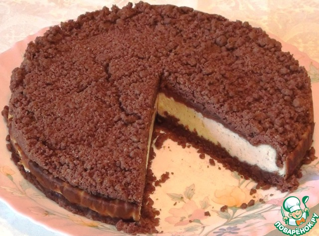 Торфяной пирог с творогом photo