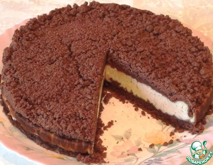 Рецепт: Торфяной пирог с творогом