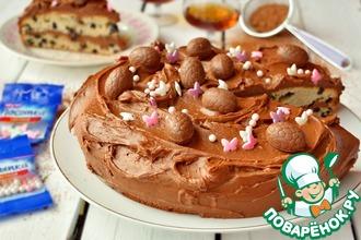 Рецепт: Торт пасхальный Коньячный изюм