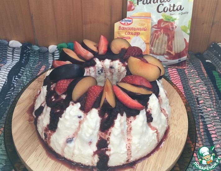 Рецепт: Пасхальный творожный торт на сгущенном молоке