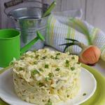 Картофельный салат с зеленой редькой