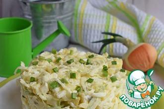 Рецепт: Картофельный салат с зеленой редькой