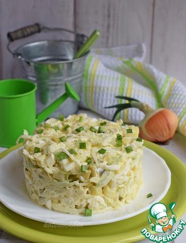 Картофельный салат с зеленой редькой photo