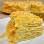 Слоеный торт Наполеон с заварным кремом